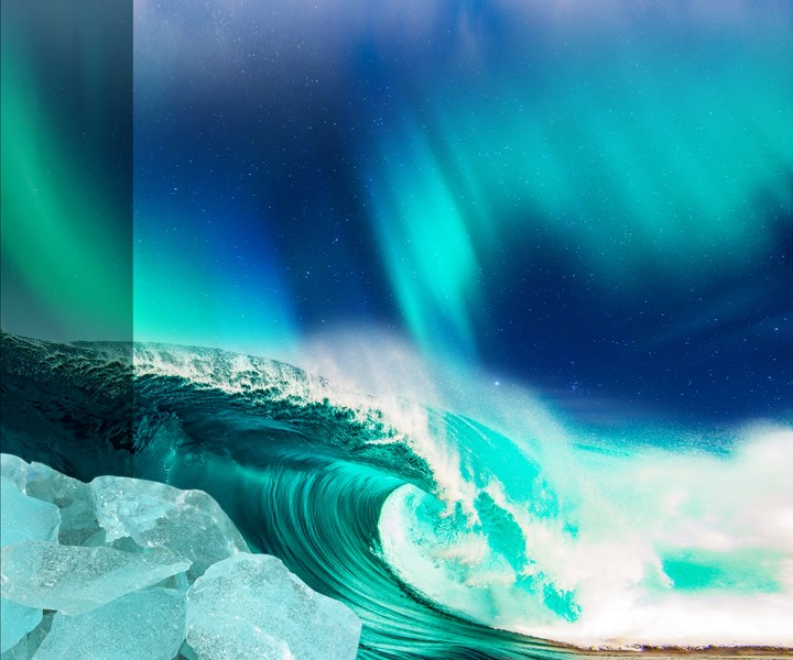 photo image of a wave