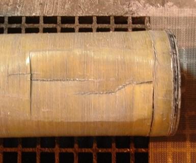 Figure 4 - Imploded fiberglass housing