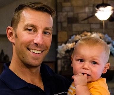 Korey Bell and his son Blais