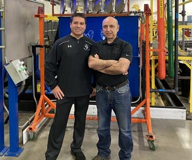 Vince Guardado, quality assurance manager, and Tom Vonortas, vice president