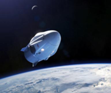 rendering of space craft in orbit