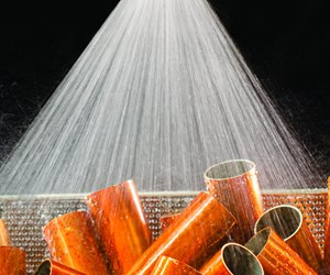 Exair's FullStream Nozzle Produces Conical Rinsing Spray
