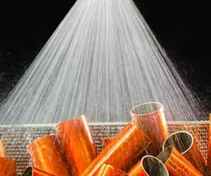 Exair's FullStream Nozzle Produces Conical Rinsing Spray