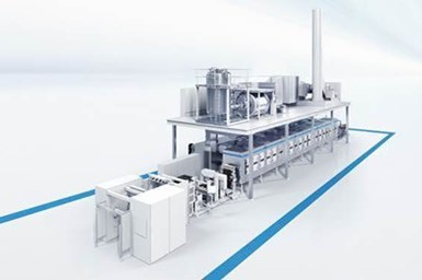 A rendering of a battery-production line