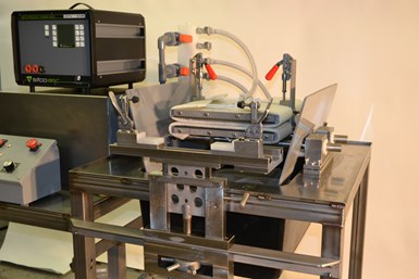 An image of SIFCO ASC's bespoke selective plating workstation for Powell during its idle period.