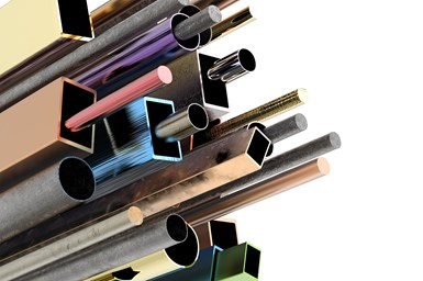 A stock photo of anodized metal pipes