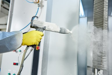 A stock photo of powder coating