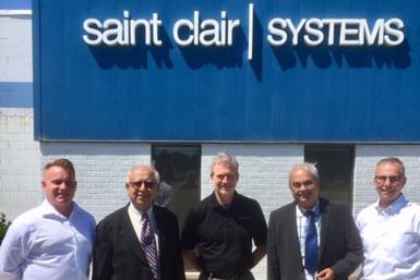 A photo of Saint Clair executives with Saint Clair India shareholder partners