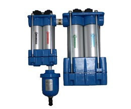 Compressed air filtration system removes contaminates down to .01 micron