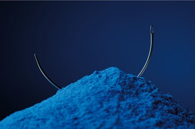 A photo of Stardust's Guardian powder coatings with a metal wire