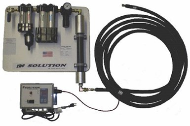A press photo of Martech's The Solution compressed air system