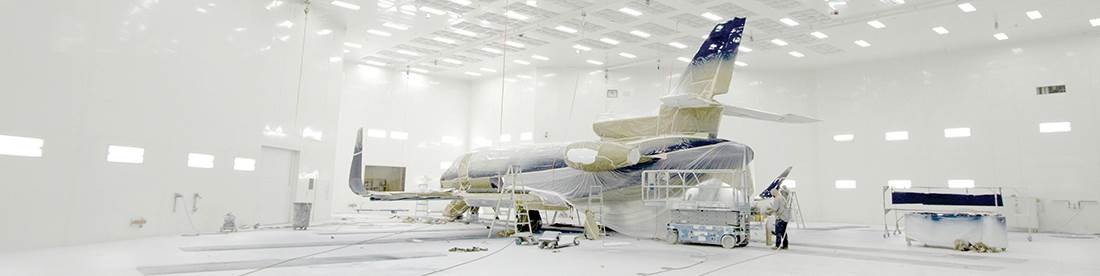 paint booth, aircraft paint booth, aerospace, liquid coating, surface finishing