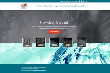 A screenshot of the MCA's homepage