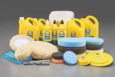 A photo of Norton Saint-Gobain's new Farécla line of polishing compounds and surface finishing products