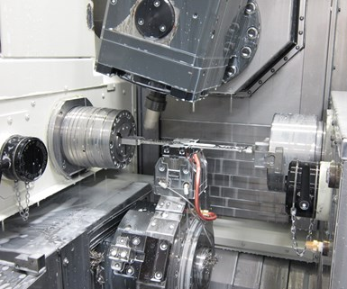 CNC turn-mill for machining medical devices