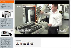 Live Online Event Features Mazak's New Technology