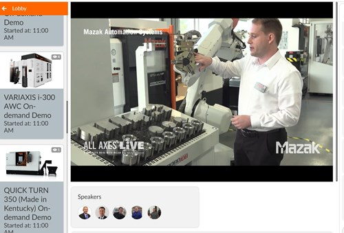 Live Online Event Features Mazak's New Technology