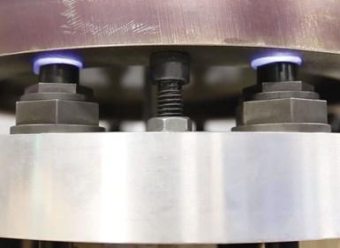 Blue Photon adhesive UV workholding for CNC turning