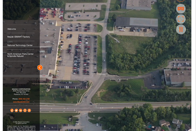 screenshot of Mazak virtual tour