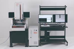 Mitutoyo MiScan Vision System Measures Array of Workpiece Sizes