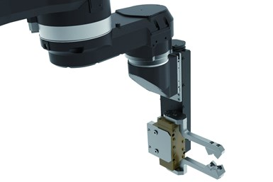 The Armdroid is designed as an articulated robotic arm built directly inside the machine tool.
