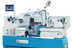 Knuth's Servoturn 410 NC Lathe has Programmable NC control