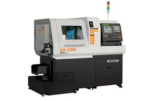 7-Axis Swiss Lathe Features Built-in Motor Spindle