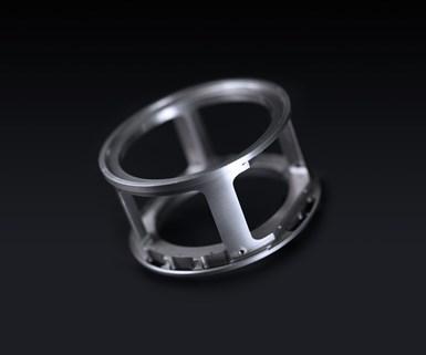 Round metal part