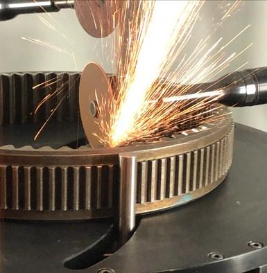 James Engineering CNC deburring machine