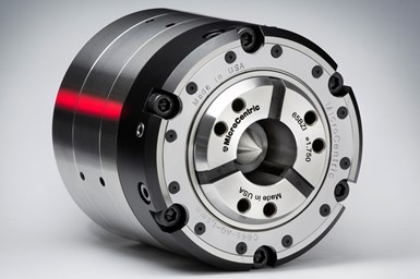 Microcentric's Quick Change Compensating collet chuck