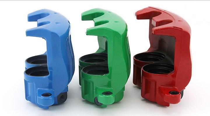 Brake calipers with zinc/nickel alloy coating