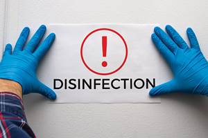 Disinfection sign