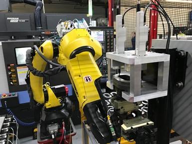 Robotic automation for CNC machine tools
