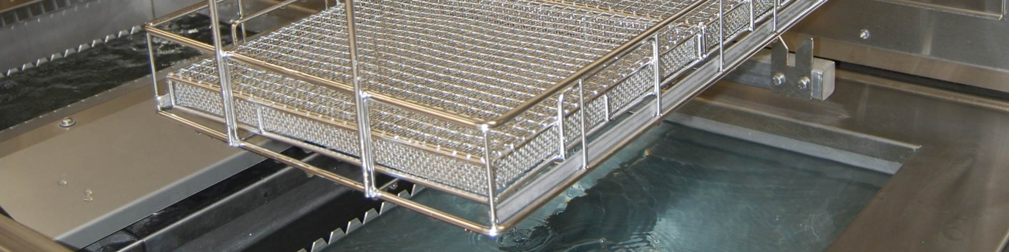 covered baskets preparing for passivation