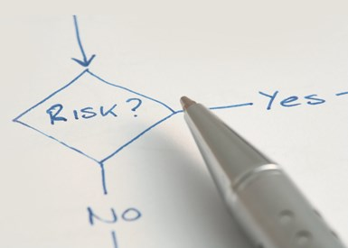 diagram: Risk? choose yes or no