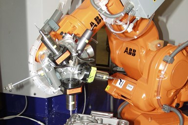 Automated deburring with industrial robots is growing.