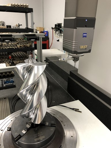 Zeiss CMM measuring supercharger rotor