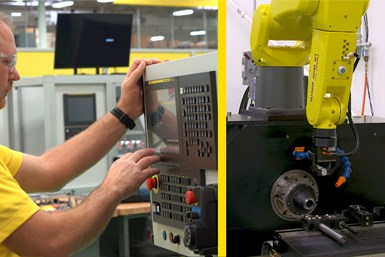 FANUC's QSSR feature enables FANUC CNCs to directly program robots through the G code.