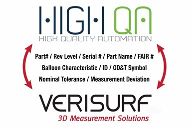 The partnership between High QA and Verisurf Software streamlines shopfloor quality inspection workflows.