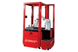 Safe, Industrial Robotic Machine-Tending Cell
