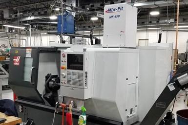 Aeroex Mist-Fit on a CNC machine tool