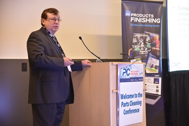 presenter at Parts Cleaning Conference