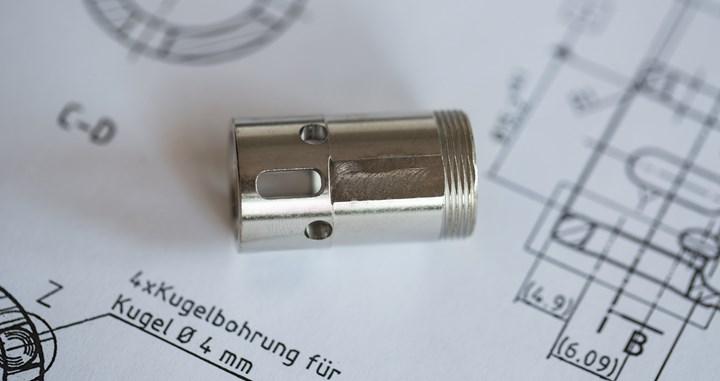 Blum-Novotest scanning probe to produce quick-coupler