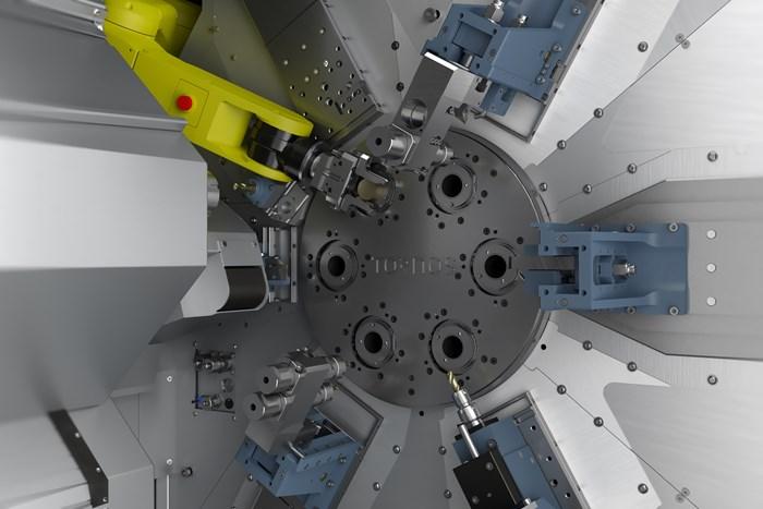 Tornos CNC multi-spindle chucker