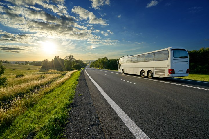 tour bus on a road