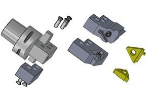 Modular Tooling System Features Coolant-Through Design