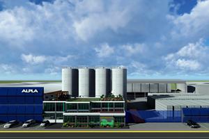 Render de la nueva planta de reciclaje de HDPE de ALPLA, en Toluca, México.