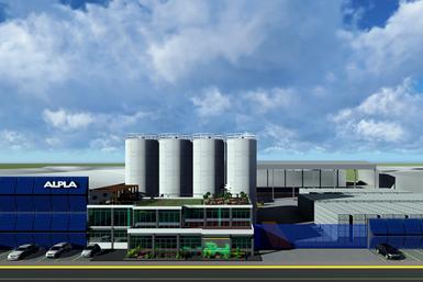 Render de la nueva planta de reciclaje de HDPE de ALPLA, en Toluca, México.Render de la nueva planta de reciclaje de HDPE de ALPLA, en Toluca, México.