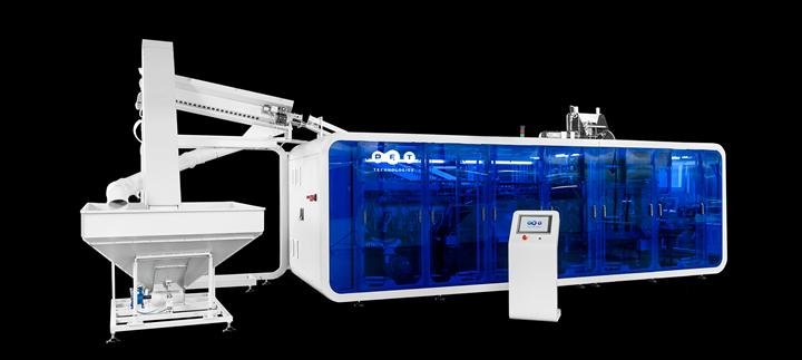 Máquina de moldeo por soplado de la serie PET APF-Max, de PET Technologies.