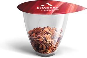 Las cápsulasfabricadas con polipropileno circular de SABIC están hechas específicamente para la nueva máquina de té Avoury One.